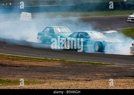 Two Cars Drifting Stock Photo Royalty Free Image Alamy