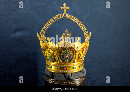 Golden Crown of Jesus inside the Cathedral in Seville Spain - Stock Photo