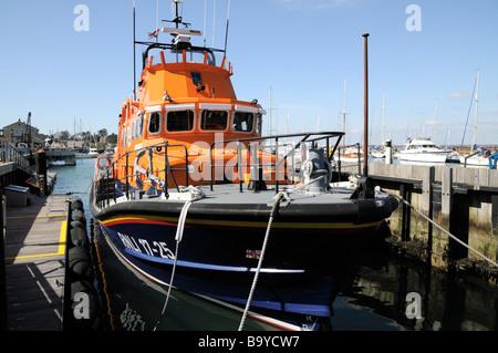 Yarmouth Lifeboat Isle of Wight United Kingdom - Stock Photo