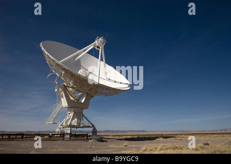 A 230 ton antenna at The Very Large Array National Radio Astronomy Observatory, Socorro, NM, February 22, 2009. - Stock Photo