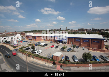 Albion Mills Retail Park, Wakefield - Stock Photo
