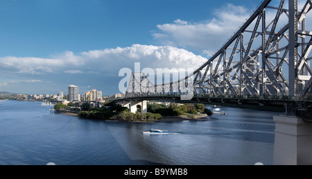 The Story Bridge Brisbane Australia - Stock Photo