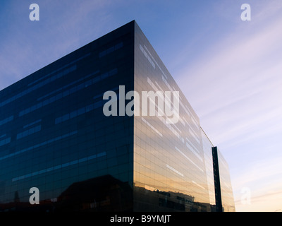 The Royal Library (the Black Diamond) in Copenhagen, Denmark. - Stock Photo