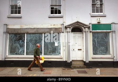 Empty shop, Devon, UK. - Stock Photo