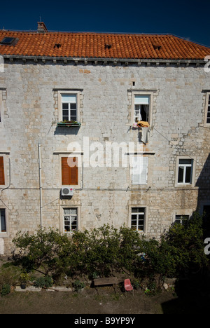 A house in old town Dubrovnik, Croatia - Stock Photo