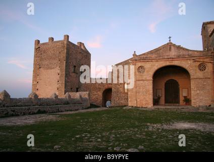 Ermita del Puig de Maria Pollensa Mallorca - Stock Photo