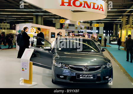 Paris France, Businessmen Meeting 'Honda Car Company', 'Sustainability Trade Show' 'Salon Durable' Civic 'Hybrid - Stock Photo