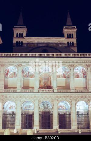 Saint John Lateran, beneditions loggia of the transept - Stock Photo