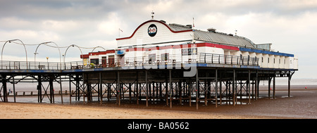 Traditional Victorian Pier at Cleethorpes, Lincolnshire, England, UK - Stock Photo