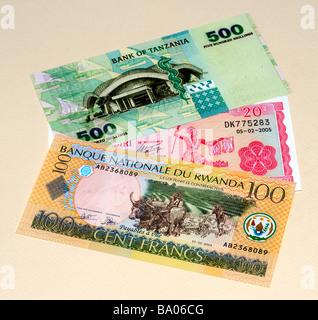East African Banknotes - Stock Photo