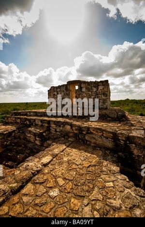 Ancient Mayan ruins at Ek'Balam, near Valladolid, Yucatan, Mexico - Stock Photo