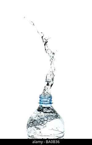 Water Splashing from a Bottle - Stock Photo