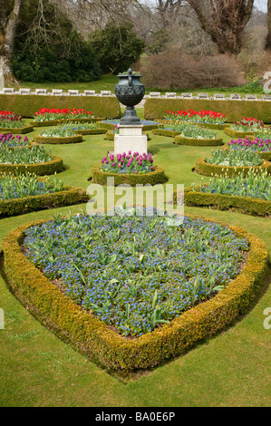 Formal parterre gardens in early Spring - Stock Photo