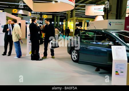 Paris France, Shopping 'Honda Car Company', People Visiting Trade Show 'Salon Durable' Civic Hybrid Car - Stock Photo