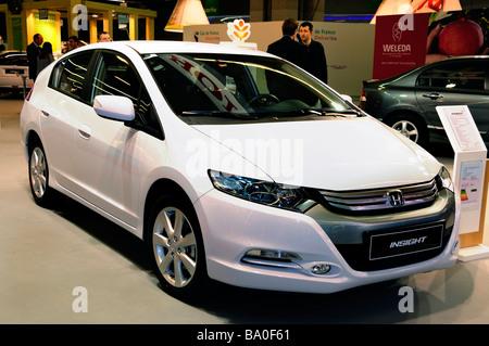 Paris France, Businessmen  'Honda Car Company' 'Sustainability Trade Show'  Insight 'Hybrid Car' 'new car' - Stock Photo