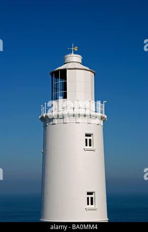 trevose head lighthouse near padstow in cornwall,uk - Stock Photo