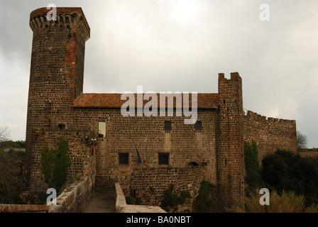 Castle of Badia in Volci - Stock Photo