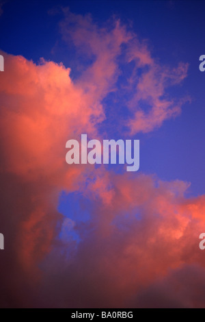 Clouds in sunset sky - Stock Photo