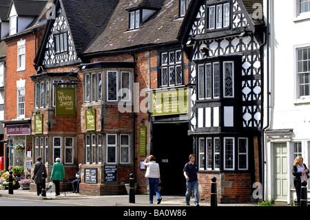 White Swan Hotel, High Street, Henley-in-Arden, Warwickshire, England, UK - Stock Photo