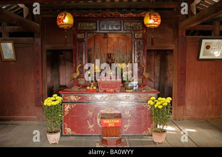 shrine inside the Japanese Covered Bridge in Hoi An - Stock Photo