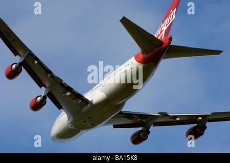 Virgin Atlantic Boeing 747 400 Jet - Stock Photo