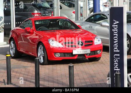 A Mercedes-Benz dealership in a U.K. city. - Stock Photo