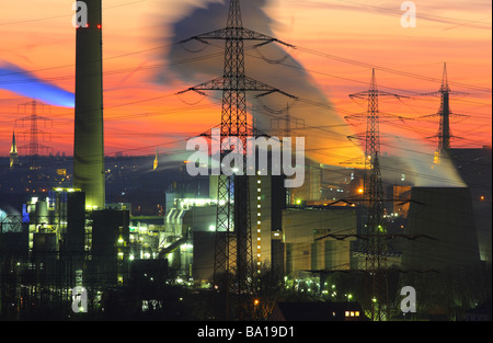Waste incineration plant Essen Karnap of RWE Power AG Essen, Ruhr Area, Germany - Stock Photo