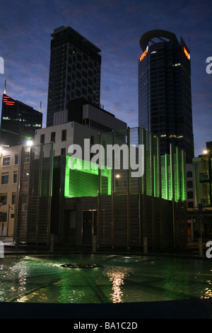 outside britomart station in the dawn auckland newzealand - Stock Photo