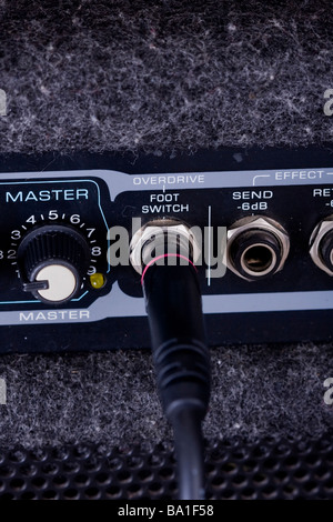 Amp with cables - Stock Photo