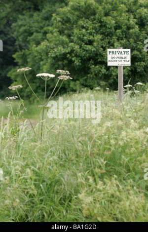 Private Land Sign - Stock Photo