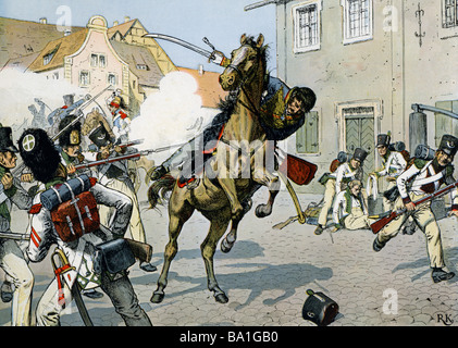 Schill, Ferdinand von, 6.1.1776 - 31.5.1809, Prussian military officer, death, killed in action during street fighting - Stock Photo