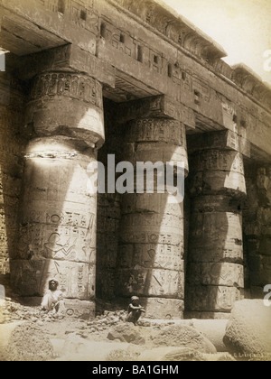 geography / travel, Egypt, Thebes West Bank, Medinet Habu, Tempel des Ramesses III (circa 1184 - 1153 BC, 20th Dynasty), - Stock Photo