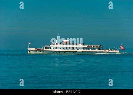 Passenger ship ferry Österreich on Lake Constance Germany   Passagierschiff Österreich auf dem Bodensee - Stock Photo