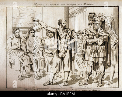 events, Greco-Persian Wars, 499 - 448 BC, 'The Answer given by Aristides to the Ambassadors of Mardonius', 480/479 - Stock Photo