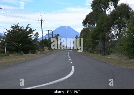 Mount Ruapahu volcano viewed from national park - Stock Photo