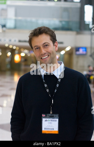 Alamy CEO James West at PhotoPlus event in New York City - Stock Photo