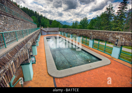 Cave and Basin Pool Cave and Basin National Historic Site Sulphur Mountain Banff National Park Alberta Canada - Stock Photo