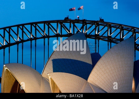 Sydney Harbour Bridge and Opera House - Stock Photo
