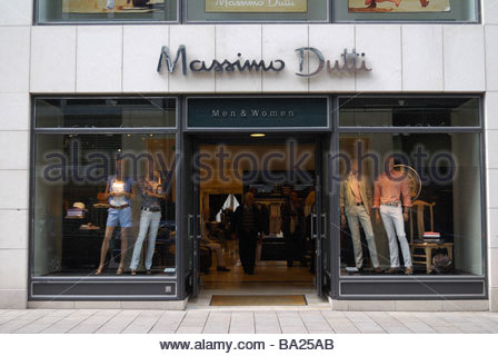 massimo dutti clothes fashion shop store poster billboard london stock photo royalty free. Black Bedroom Furniture Sets. Home Design Ideas