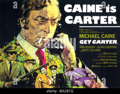 GET CARTER Poster for 1971 MGM film with Michael Caine - Stock Photo