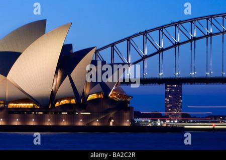 Sydney Harbour Bridge and Opera House - Stock Photo
