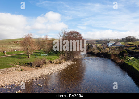 Kirkby Stephen, Upper Eden Valley, Cumbria, England, UK, Europe. View along the Eden River in North Pennines - Stock Photo