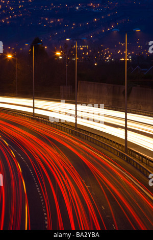 England Tyne Wear Newcastle Upon Tyne Rush hour traffic on the A1 heading south bound from Newcastle Upon Tyne Stock Photo