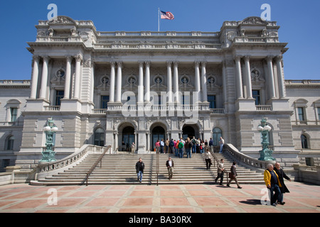 Library of Congress is largest library in world, Washington DC, District of Columbia - Stock Photo