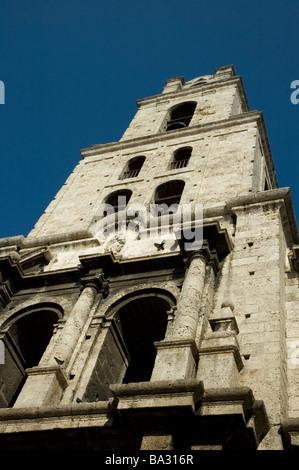 CUBA Havana Tower of the Basilica church of Saint Francis of Assisi San Francisco de Asis March 2009