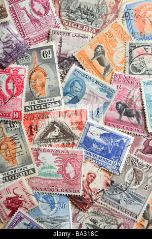 Old African Postage Stamps - Stock Photo