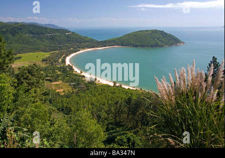 Leper colony village north of Da Nang along the South China Sea Vietnam - Stock Photo