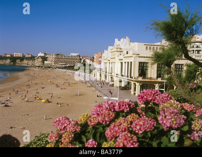 france cote d 39 argent biarritz grande nuisance beach casino municipal stock photo royalty free. Black Bedroom Furniture Sets. Home Design Ideas