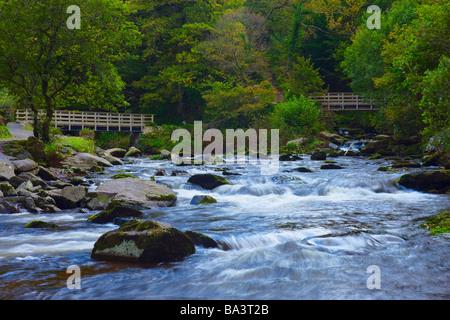 Watersmeet in Exmoor National Park Devon England - Stock Photo