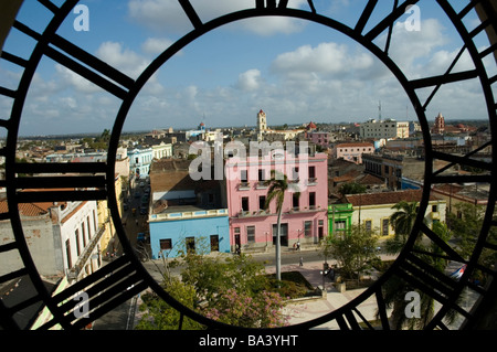 CUBA Camaguay View from the Clock tower of the Cathedral of Our Lady of Candelaria Catedral de Nuestra Senora de - Stock Photo
